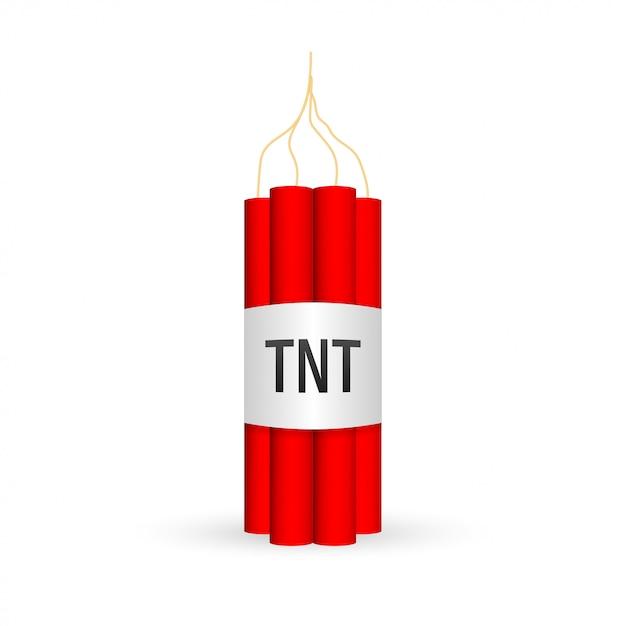 Paquete de dinamita roja con bomba de tiempo eléctrica, tnt Vector Premium