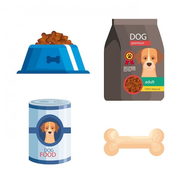 Paquete de elementos de la tienda de mascotas Vector Premium