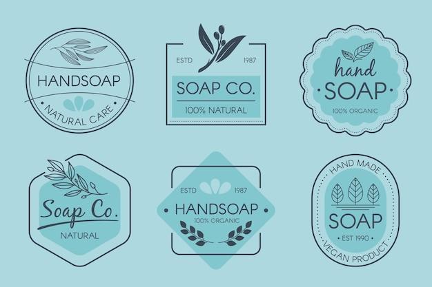 Paquete de etiquetas de jabón creativas vector gratuito