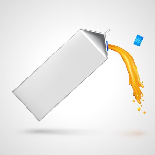Paquete de jugo que fluye vector gratuito