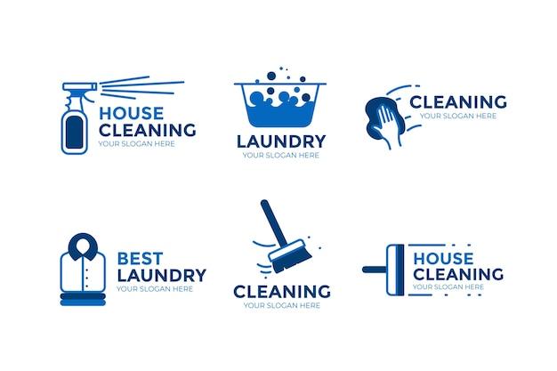 Paquete de logotipos de limpieza Vector Premium