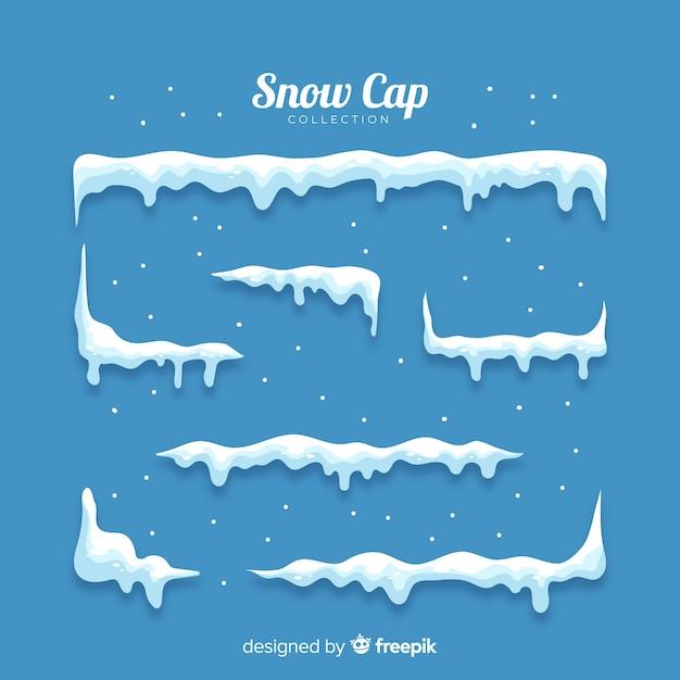 Paquete nieve acumulada vector gratuito