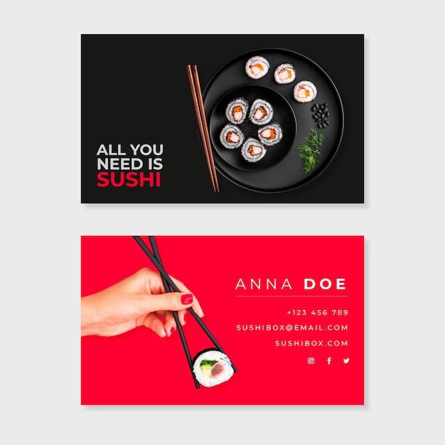 Paquete de plantilla de tarjeta de visita abstracta con imagen vector gratuito