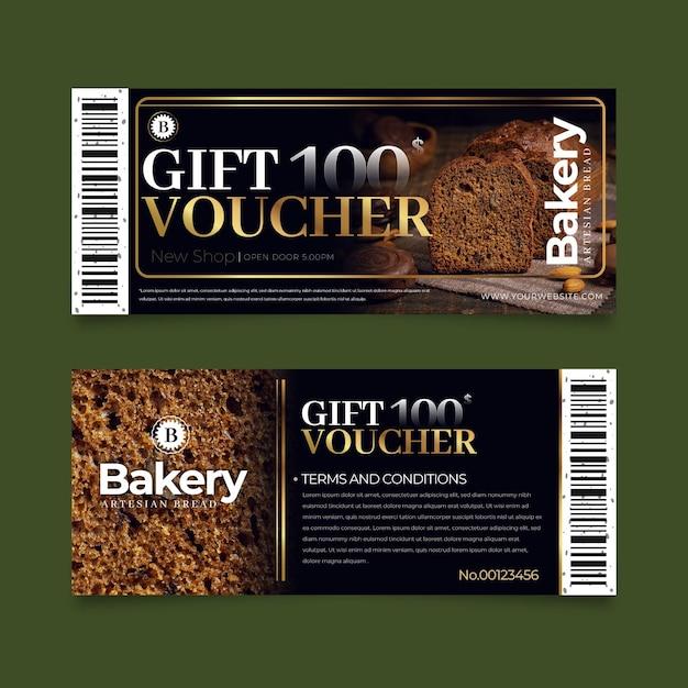 Paquete de plantilla de vale de regalo con foto Vector Premium