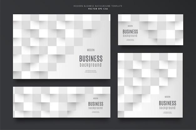 Paquete de plantillas de fondo de negocios modernos vector gratuito