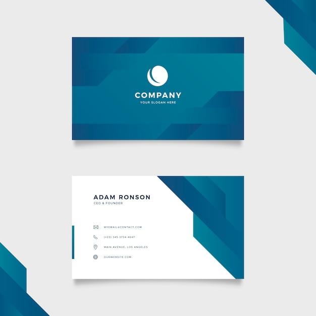 Paquete de plantillas de tarjeta de visita abstracta vector gratuito