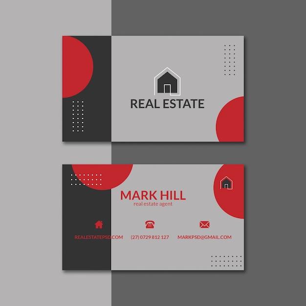 Paquete de plantillas de tarjetas de visita inmobiliarias vector gratuito