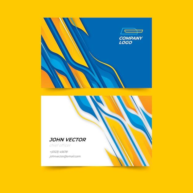 Paquete de tarjetas de visita de formas abstractas vector gratuito