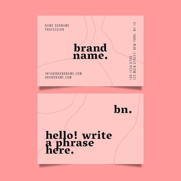 Paquete de tarjetas de visita minimalistas vector gratuito