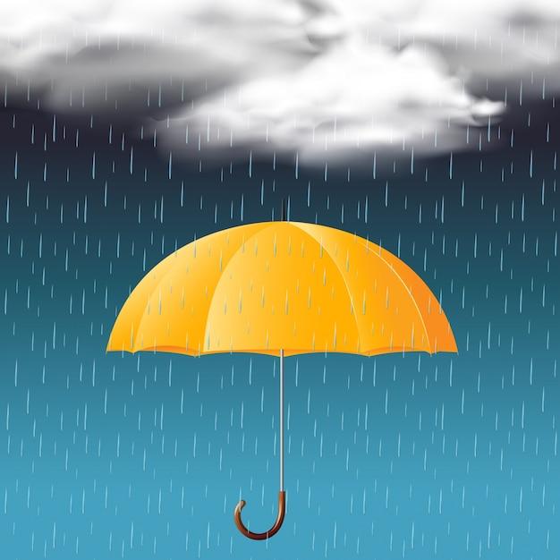 paraguas amarillo y temporada de lluvias descargar vectores premium. Black Bedroom Furniture Sets. Home Design Ideas