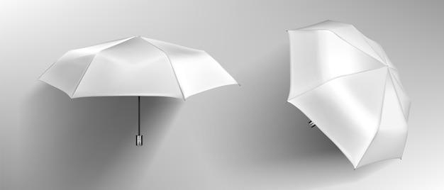 Paraguas blanco, frente de parasol en blanco vector gratuito