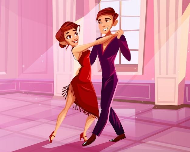 Mujer de vestido rojo bailando