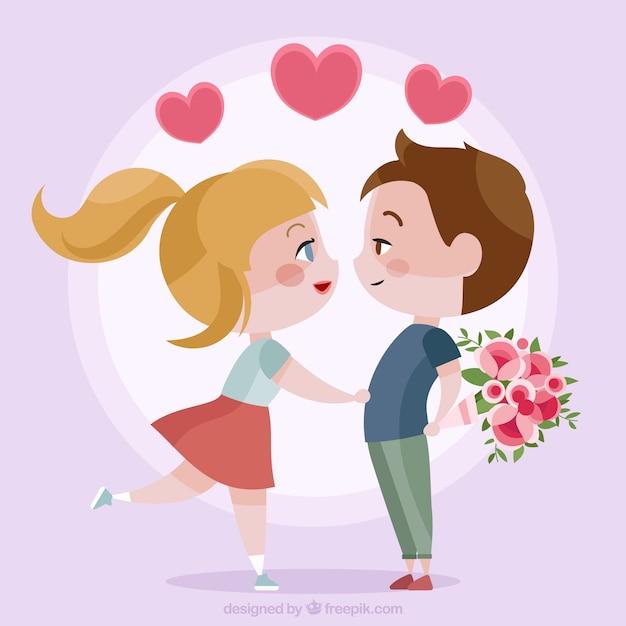 pareja joven de enamorados descargar vectores premium