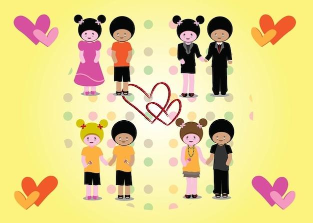 parejas vectores de amor Vector Gratis