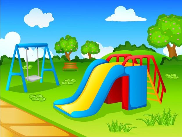 El Parque De Atracciones De Dibujos Animados Ven A Jugar: Parque De Juegos Para Niños
