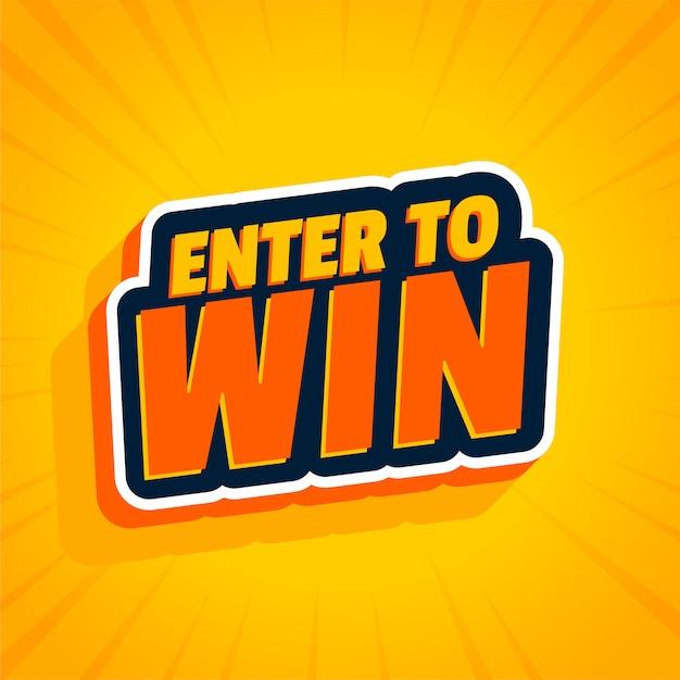 Participa para ganar pegatina amarilla vector gratuito