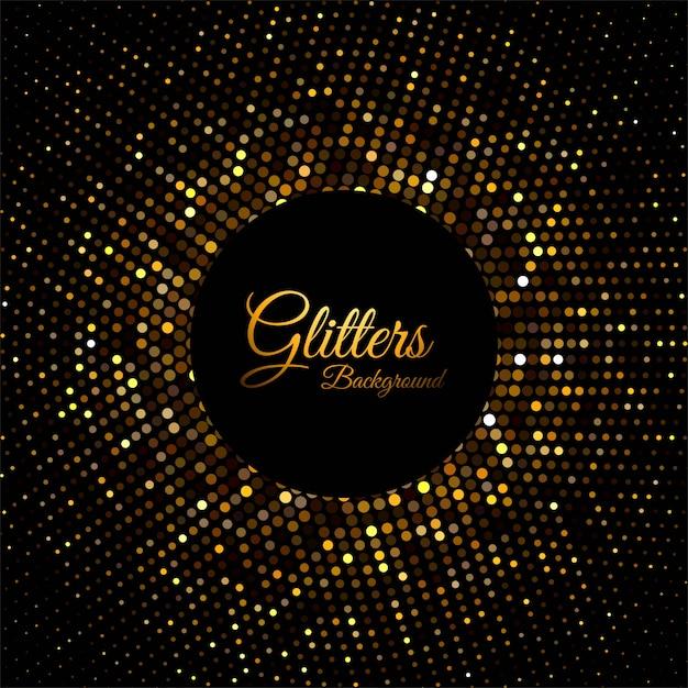 Partículas abstractas de brillo dorado vector gratuito