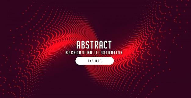 Partículas rojas estallan fondo de movimiento abstracto vector gratuito