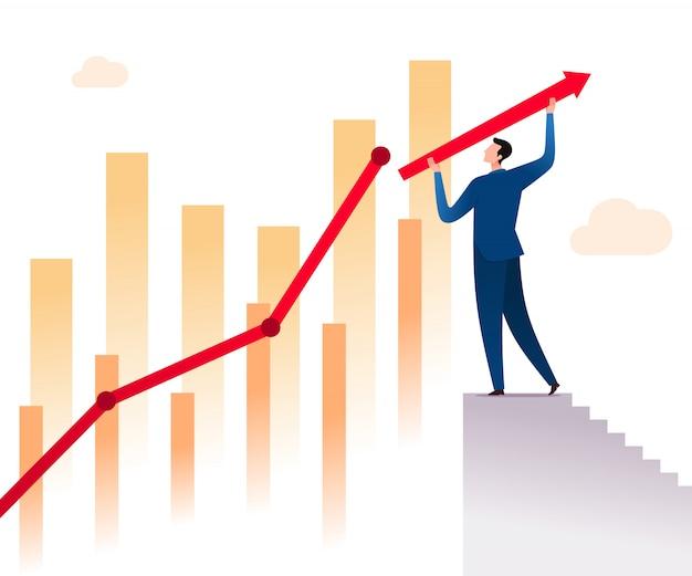 Paso para el éxito del negocio Vector Premium