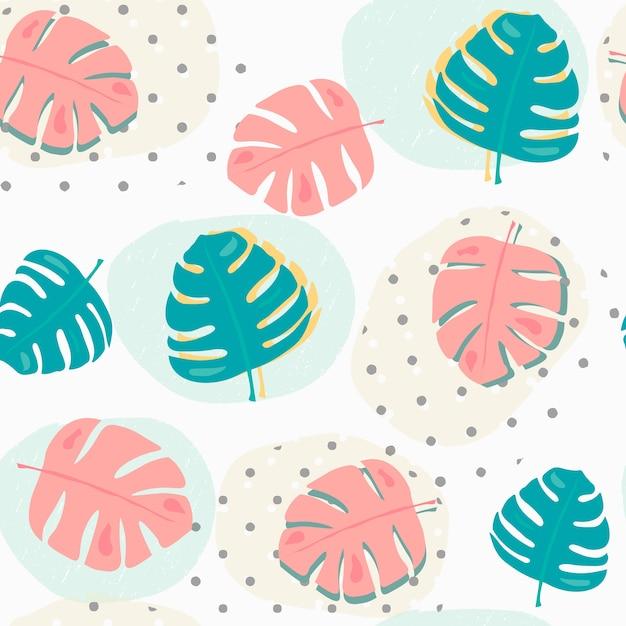 Pastel en colores pastel verano tropical hojas de fondo transparente ...