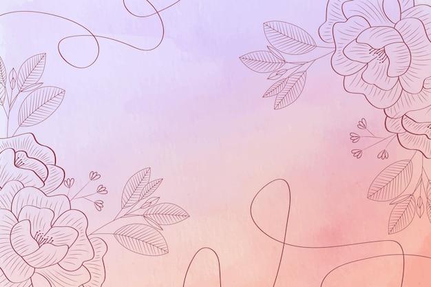 Pastel en polvo con elementos dibujados a mano - fondo Vector Premium