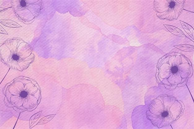 Pastel en polvo con elementos dibujados a mano Vector Premium