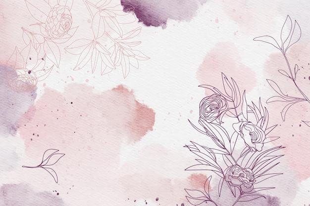 Pastel en polvo con elementos dibujados a mano vector gratuito