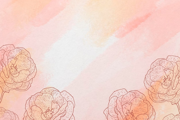 Pastel en polvo con fondo de elementos dibujados a mano vector gratuito