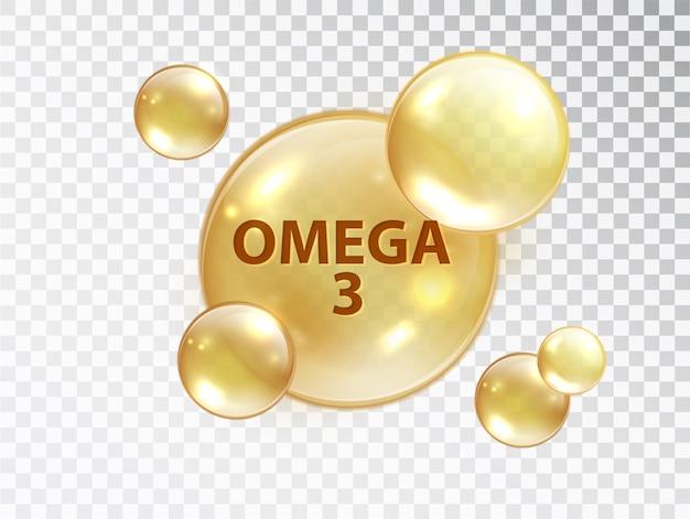 Pastilla de omega 3. cápsula de vitamina. vector gratuito