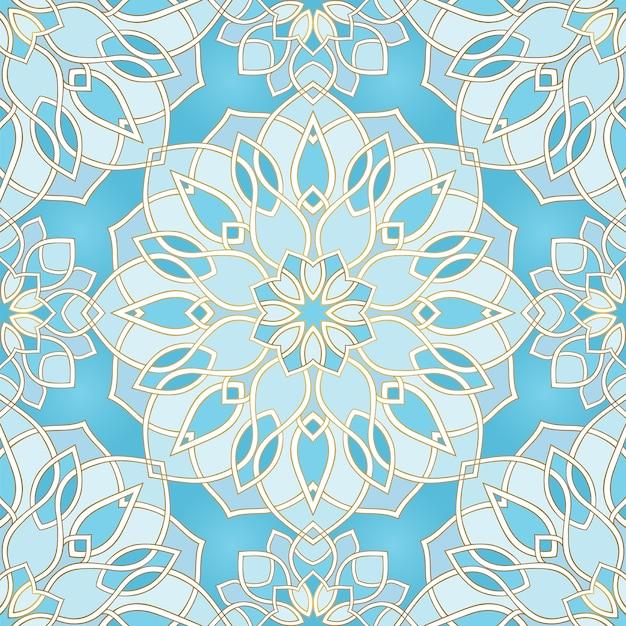 Patrón abstracto azul Vector Premium