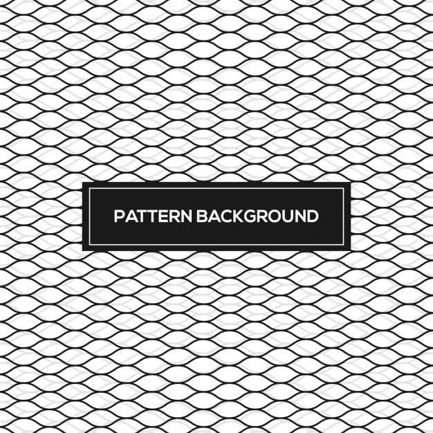 Patrón abstracto con malla ondulada vector gratuito