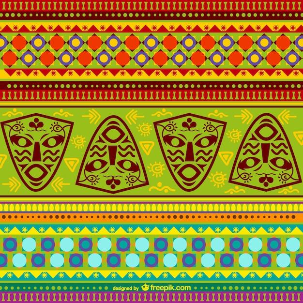 Patrón africano colorido vector gratuito