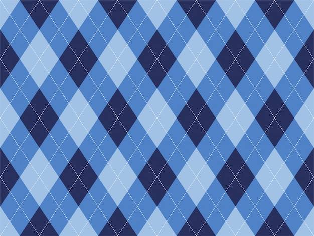 Patrón de argyle sin costuras. fondo de textura de tela. Vector Premium