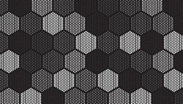 Patrón de azulejos geométricos llenos de puntos vector gratuito
