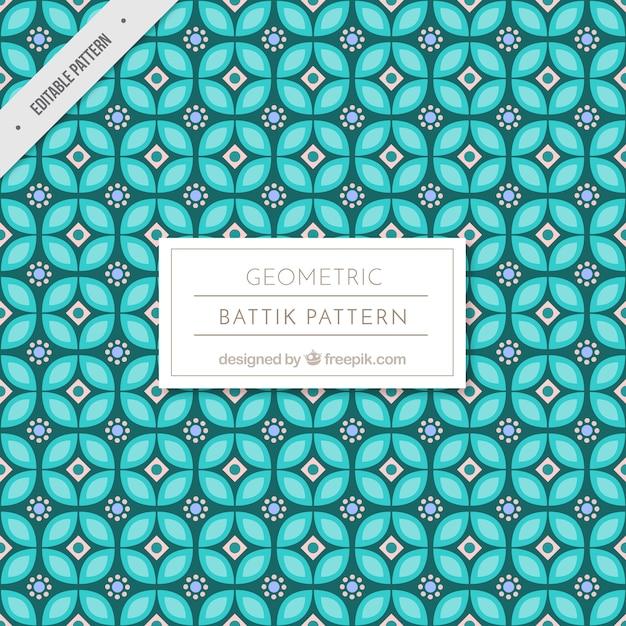 Patrón batik de formas geométrica vector gratuito