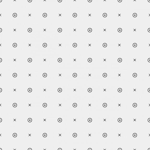 Patrón con círculos y cruces | Descargar Vectores gratis