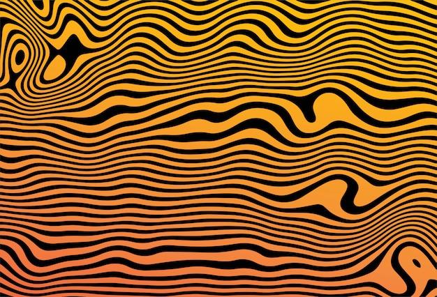 Patrón colorido mínimo con fondo de líneas curvas vector gratuito
