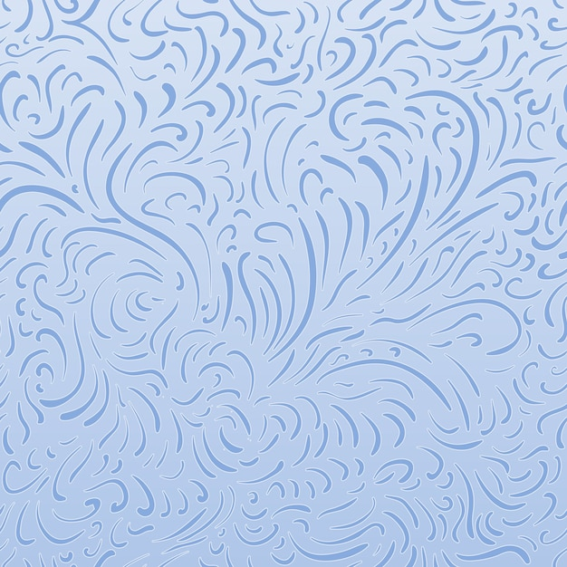 Patrón de congelación simple de líneas en pantalla, blanco y azul vector gratuito