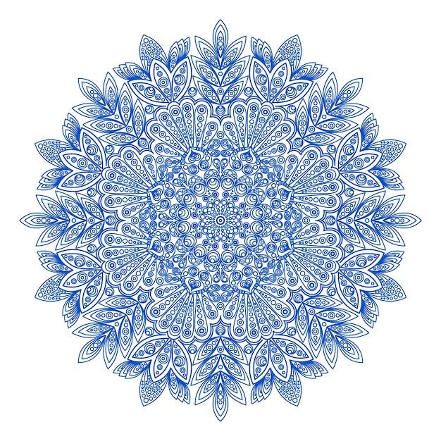 Patrón de copo de nieve redonda ornamental | Descargar Vectores gratis