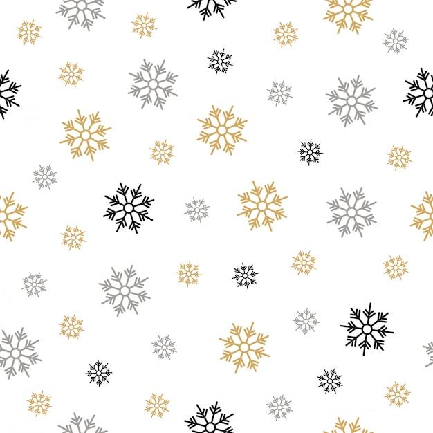 Patrón de copos de nieve sin fisuras dibujo garabato | Descargar ...