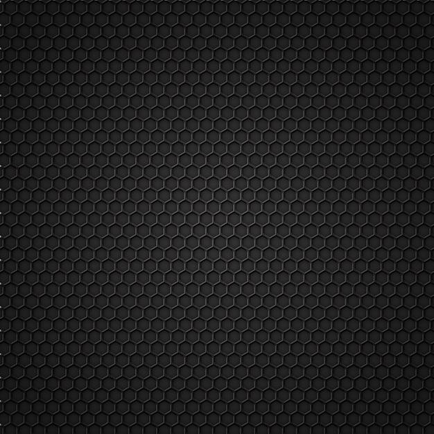 Patrón sin costuras de carbono negro Vector Premium