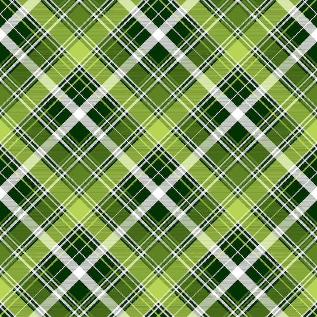 Patrón sin costuras cuadros abstracto diagonal verde irlandés Vector Premium
