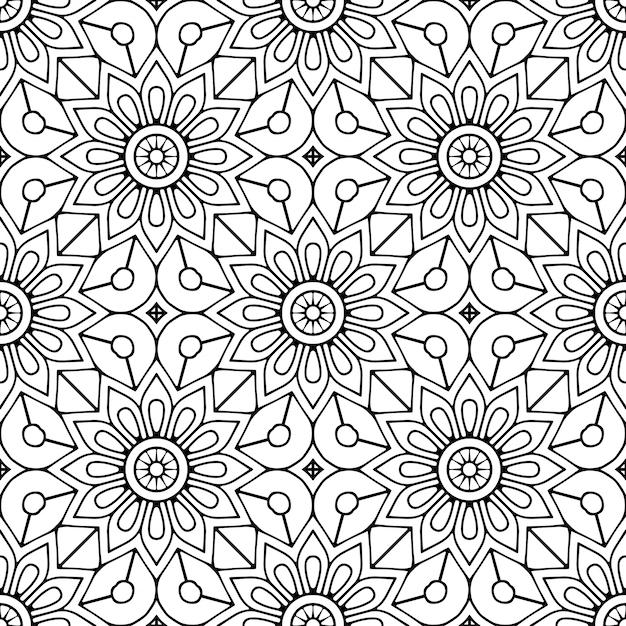 Patrón sin costuras elementos decorativos vintage vector gratuito