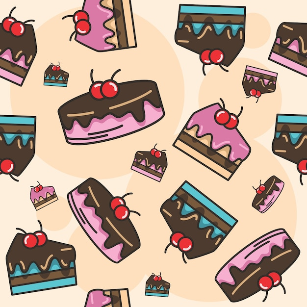 Patrón sin costuras de pastel de chocolate sudor | Descargar ...
