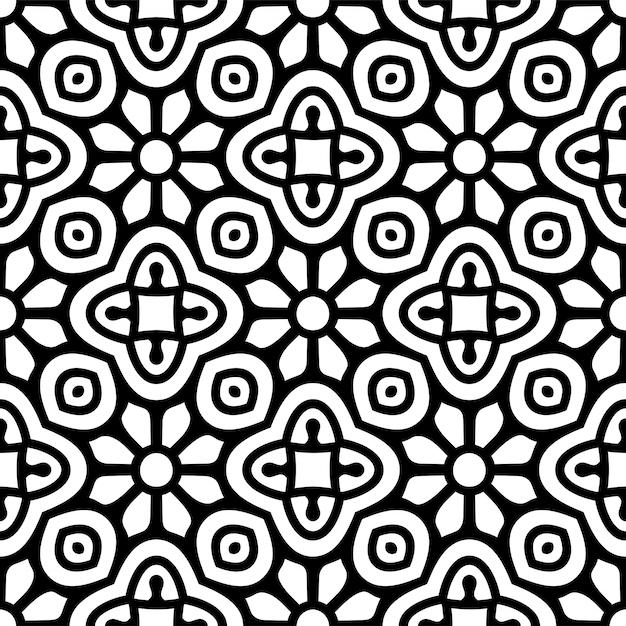 Patrón sin costuras patrón de elementos decorativos vintage vector gratuito