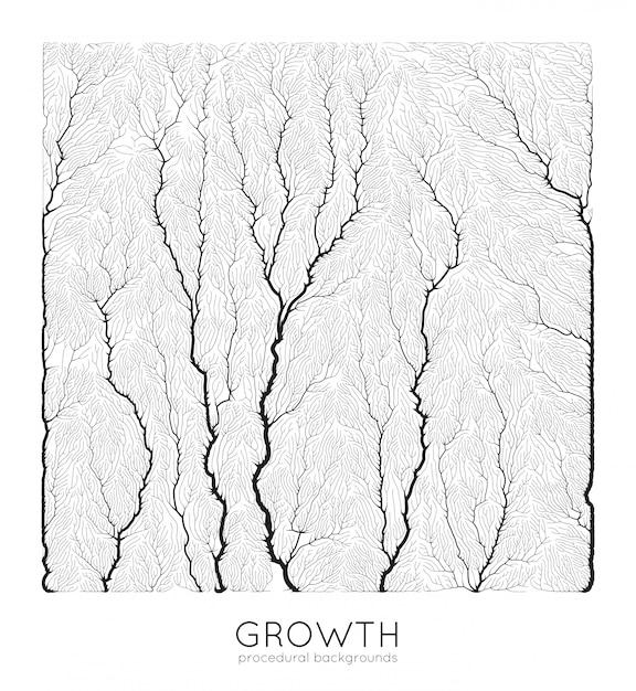 Patrón de crecimiento generativo de ramas vector gratuito