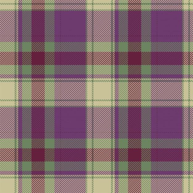 Patrón de cuadros escoceses sin costuras de tartán escocés. tela de fondo retro. textura geométrica cuadrada de color de vintage checks. Vector Premium
