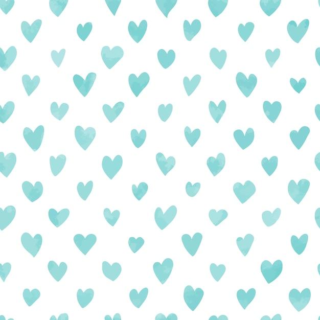 Patrón de corazones dibujados a mano sin costura | Descargar ...