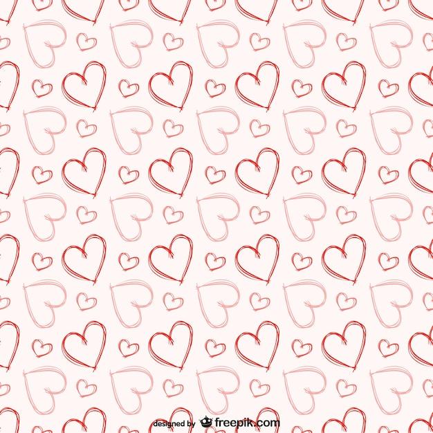 Patrón de corazones gratis   Descargar Vectores gratis