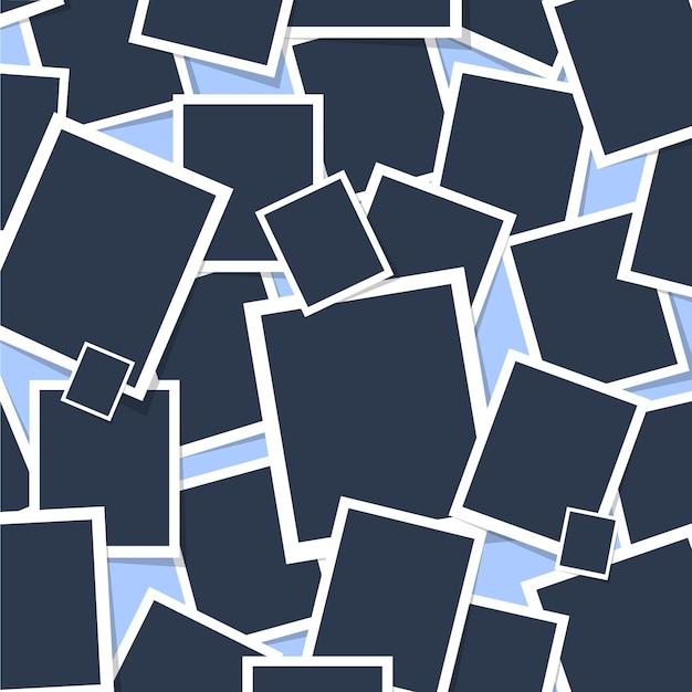 Patrón de fondo de polaroid   Descargar Vectores gratis